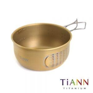 TiANN 鈦安餐具 純鈦金鳳碗400ml