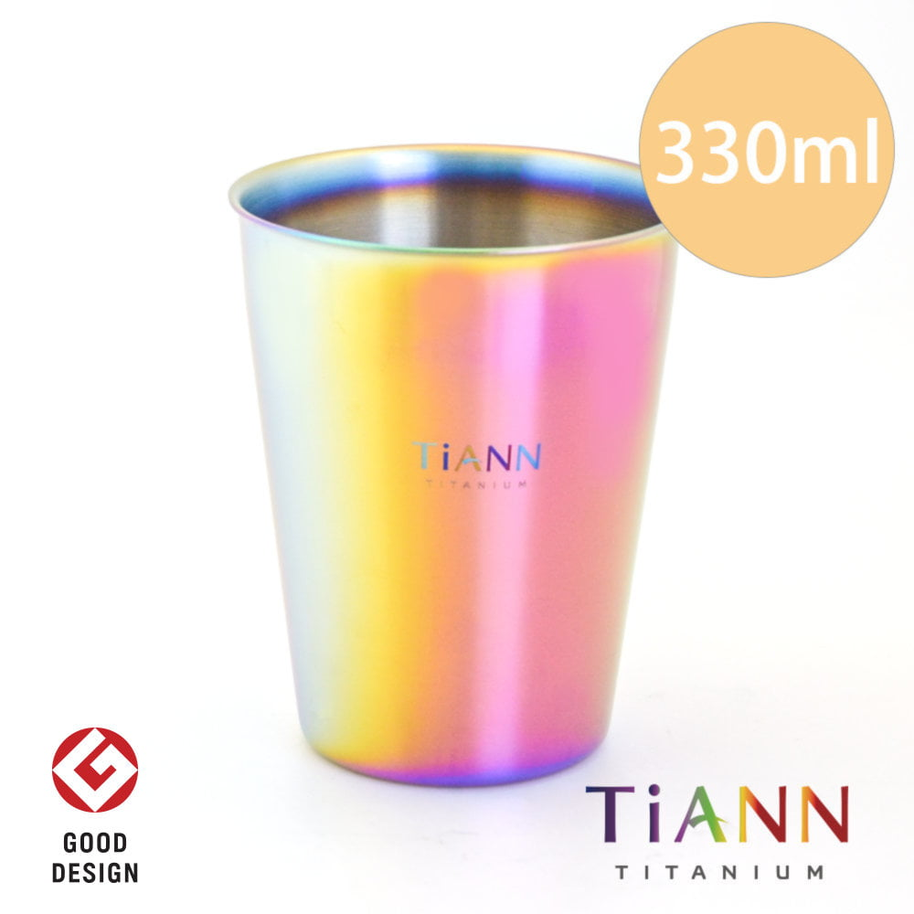 TiANN 鈦安餐具 純鈦雙層咖啡杯 極光 (贈杯蓋)