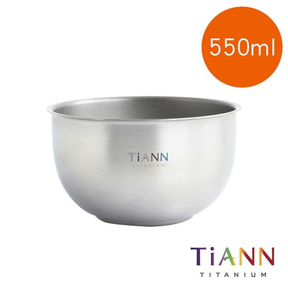 TiANN 鈦安餐具 純鈦雙層鈦碗 550ml