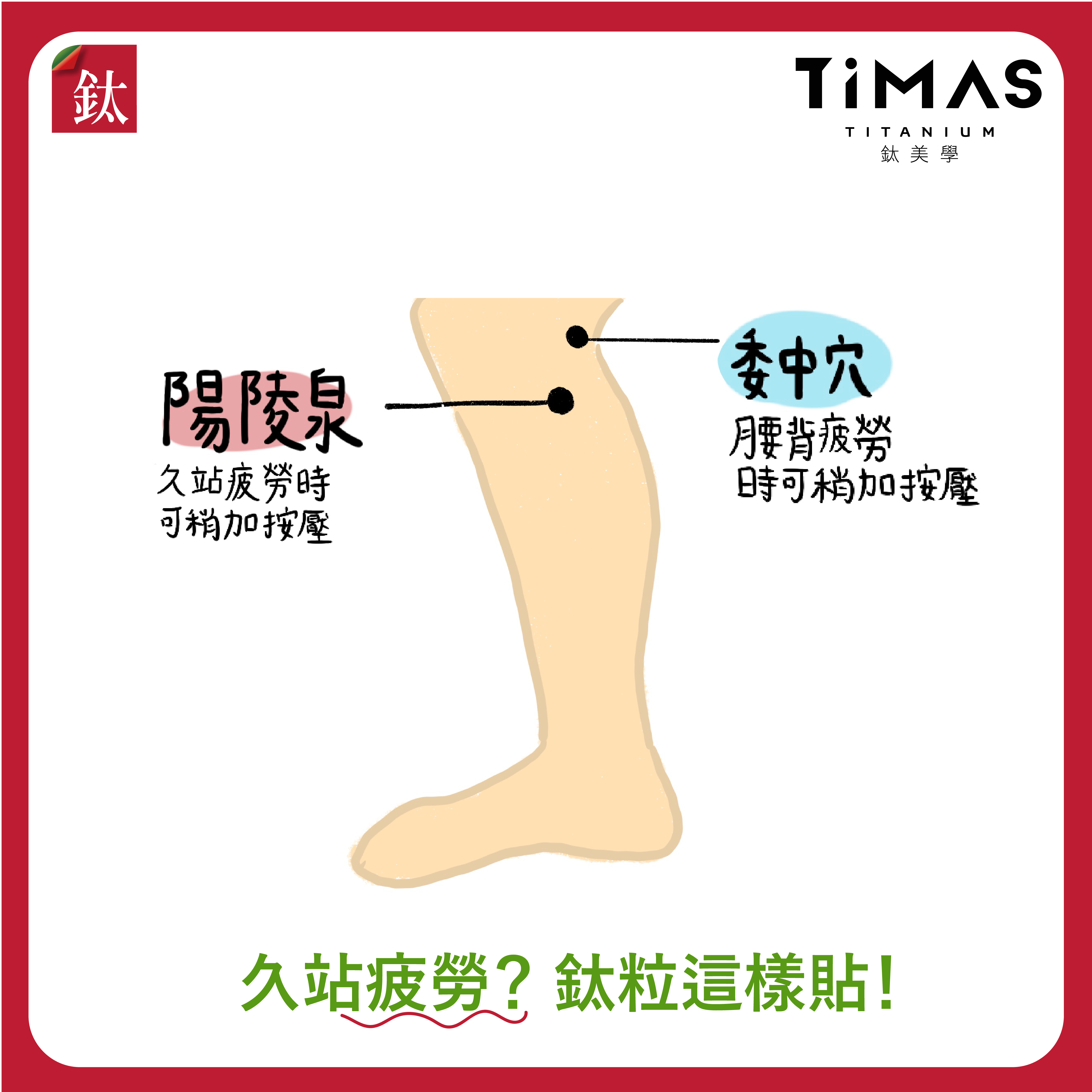 腿部疲勞 穴道圖