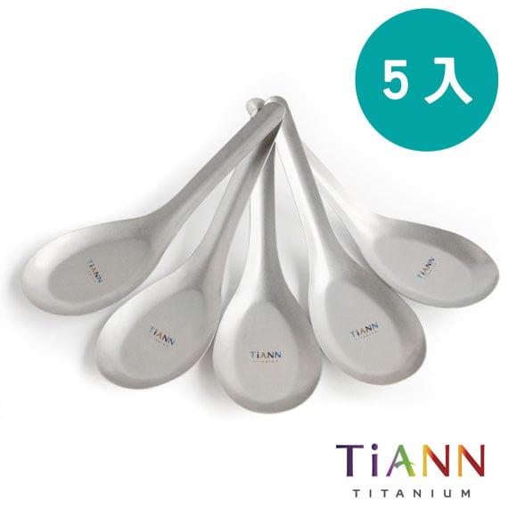 TiANN 鈦安餐具 純鈦 經典台式湯匙 5入