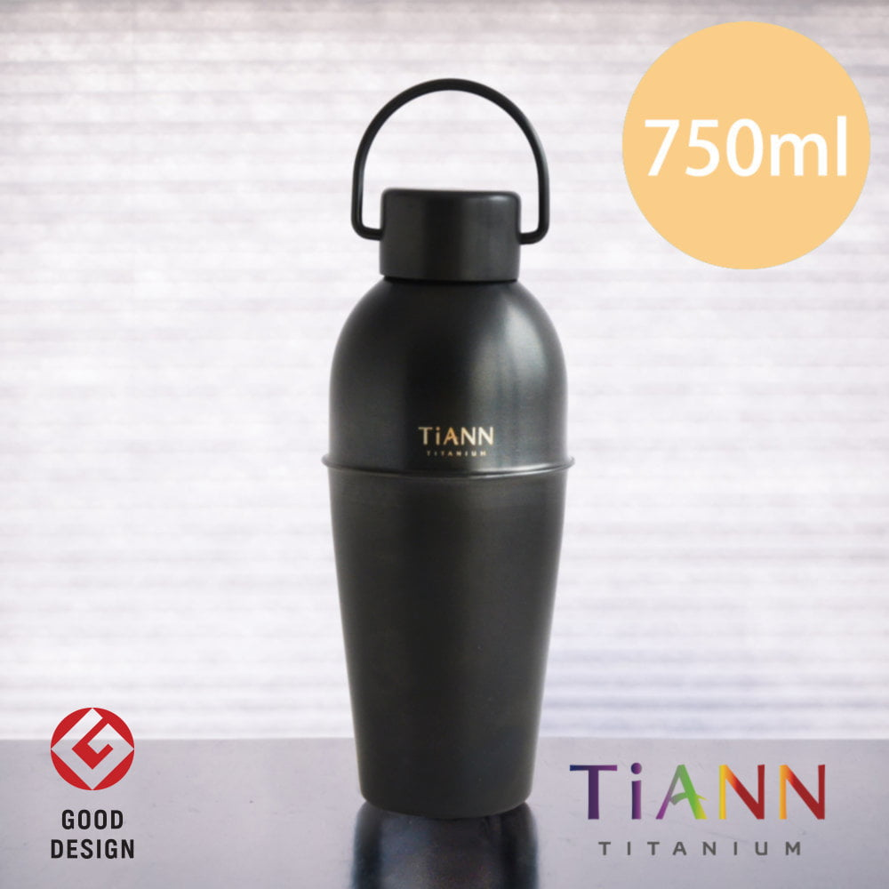 TiANN 鈦安餐具 純鈦 寬口 酒水壺 尊爵黑 750ml (贈提袋)
