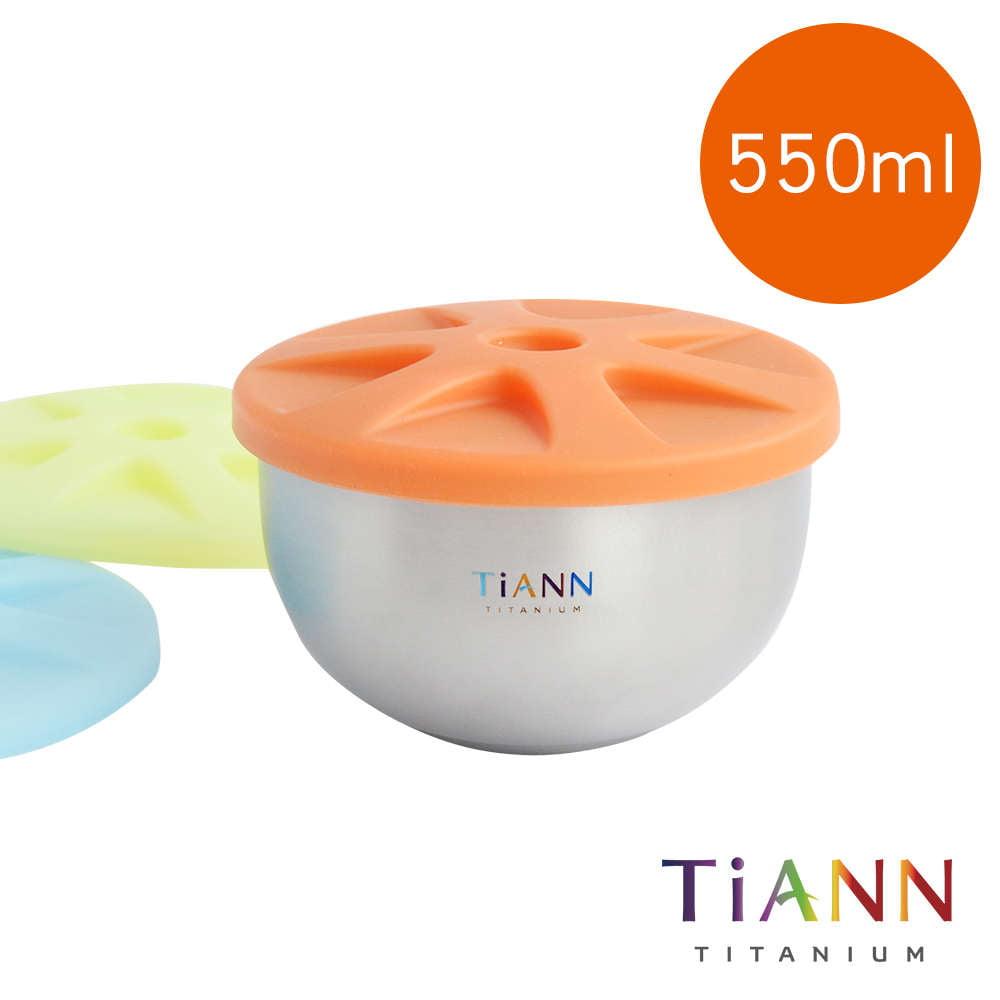 TiANN 鈦安餐具 純鈦雙層 鈦碗含蓋